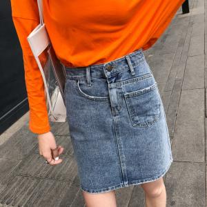复古个性包臂A字裙裙裤高腰不对称学生个性裤裙