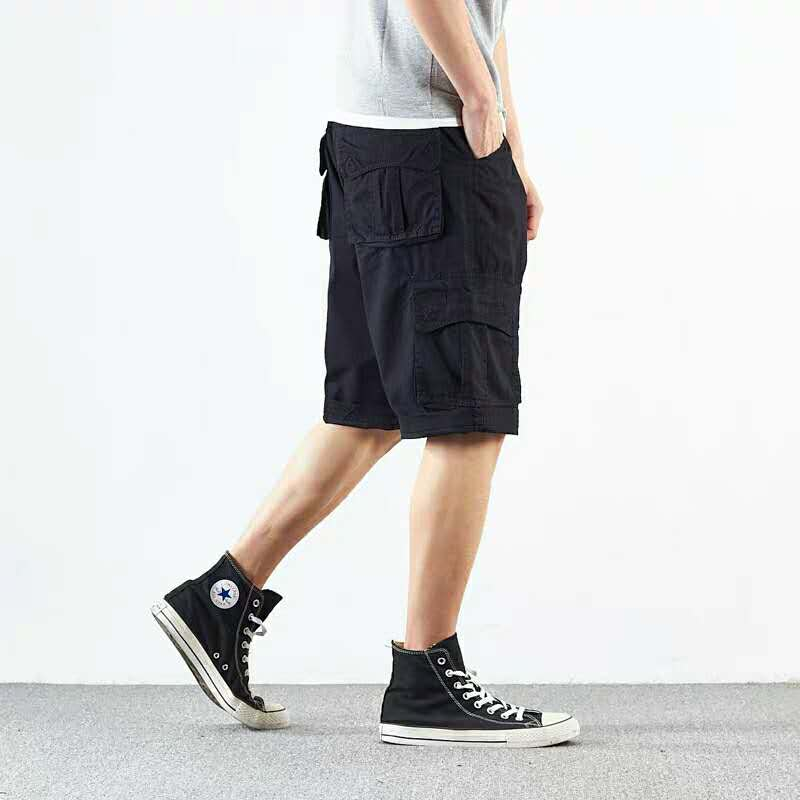 实拍工装短裤男士休闲裤子夏季薄款宽松多口袋军旅沙滩五分裤-军迷部落-