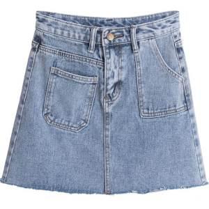 半身裙显瘦牛仔短裙女学生不对称百搭包臀高腰春装