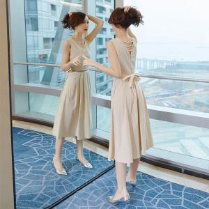 YF14607# 棉麻连衣裙新款夏厌世风法国小众桔梗裙特别仙的裙子仙女超仙
