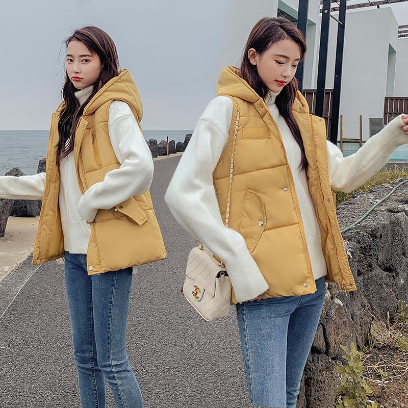 实拍2019轻薄羽绒棉服女韩版时尚宽松收腰马夹外套直播 速卖通-敏敏时尚羽绒服-
