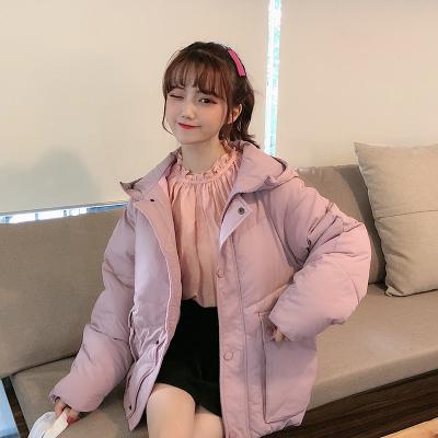 实拍2019冬季棉衣网红学生短款羽绒服chic女学院风加厚宽松棉服bt