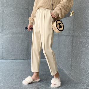 YF71129# 毛呢裤女大码...