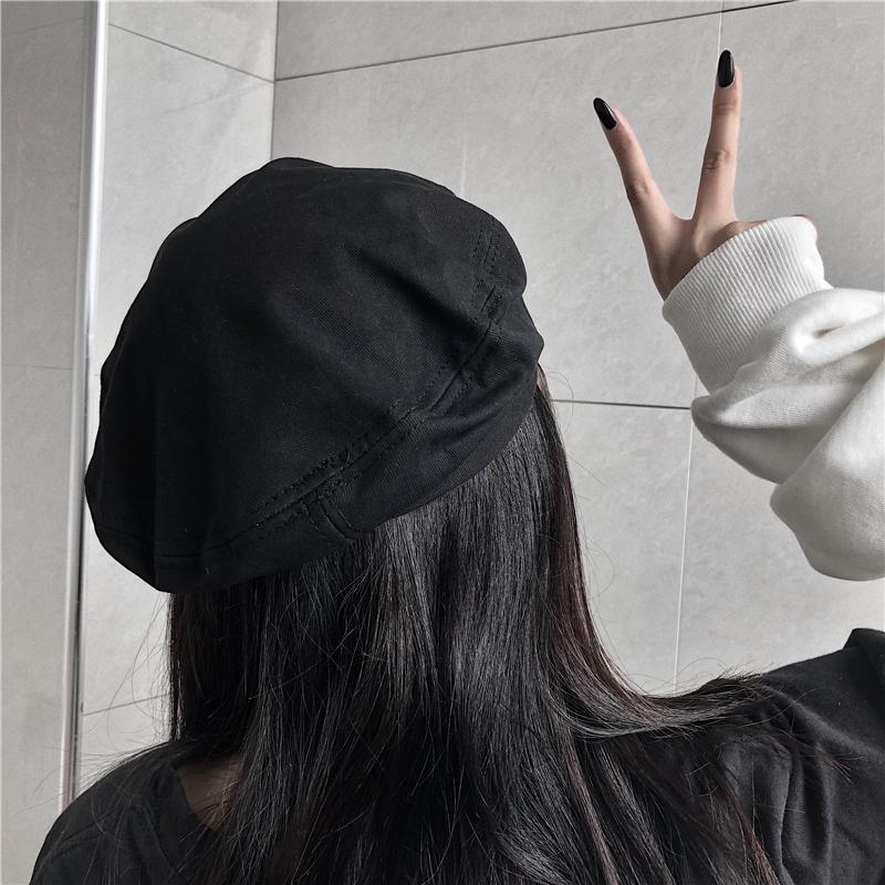 特价不减 实拍 贝雷帽女原宿ins暗黑风复古画家帽百搭网红八角帽-BK STUDIO-