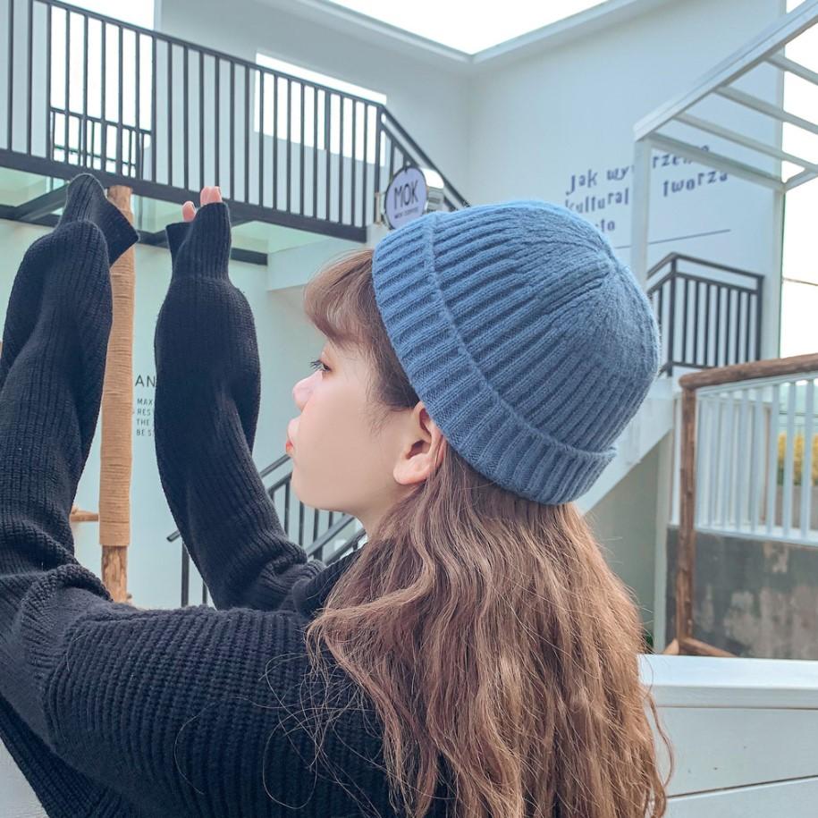 韩版ulzzang白色毛线帽女秋冬季保暖针织帽男贴标冷帽百搭包头帽-美多多服饰-