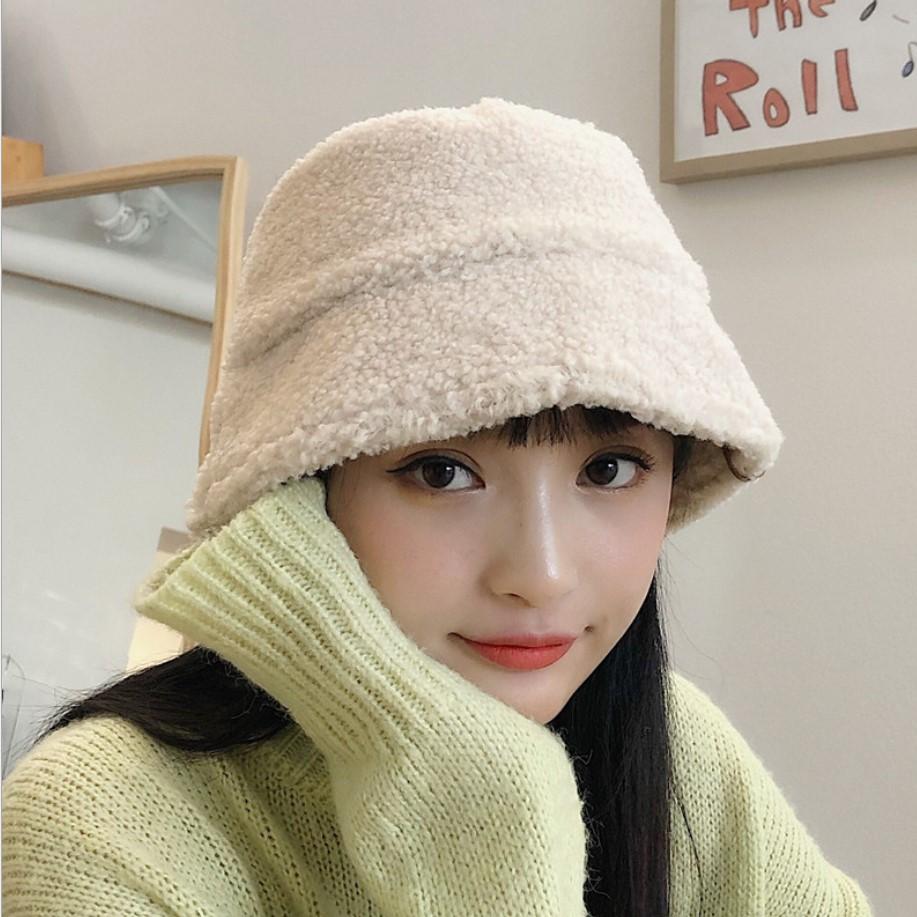 兔绒直筒渔夫帽子女秋冬季保暖百搭日系休闲复古盆帽潮-美多多服饰-
