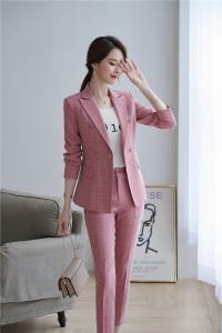 YF32160# 韩版小西装女秋冬时尚气质OL英伦风格子套装
