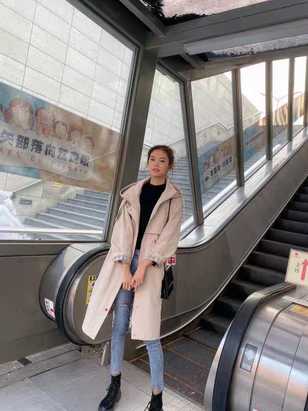 2019新款秋款风衣复古韩版修身显瘦收腰中长款女装上衣时尚-默默家服饰-