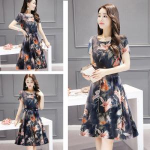 Medium length dress fashion te...