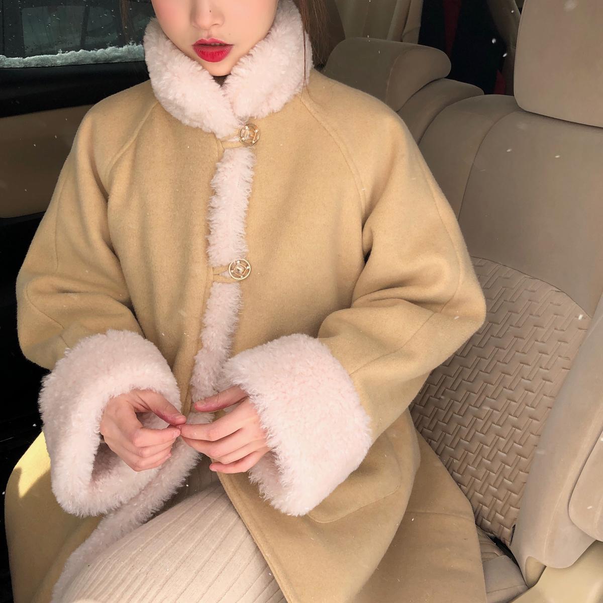 珍珍家12/12AM 00:00上新 一起拥抱冬天吧 羊羔毛毛呢外套女-烔炜服饰-