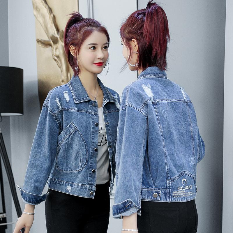 牛仔外套女2020春秋季新款女装韩版轻熟洋气百搭网红流行上衣ins-依嘟啦-