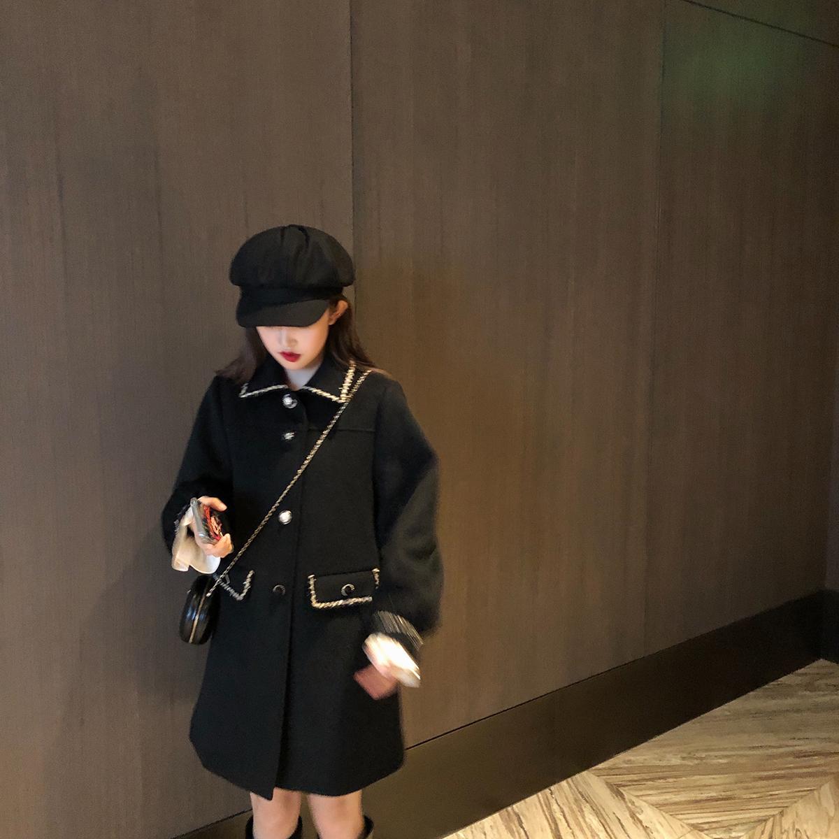 珍珍家12/26AM10:00上新 重工精致小香风毛呢外套女冬中长款-火树林服饰-