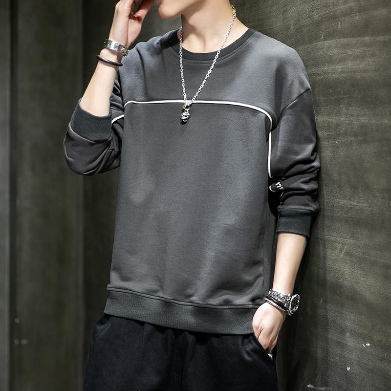卫衣男春季2020新款韩版潮流青年圆领上衣潮牌运动打底衫-坏先生服饰-