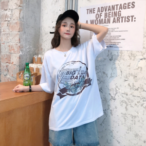 Loose short sleeve T-shirt for...