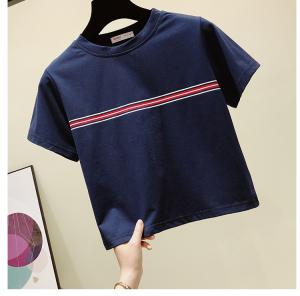 短袖t恤女夏潮修身短款时尚上衣打底衫体恤
