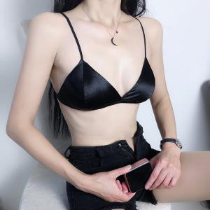 法式三角杯小胸内衣女吊带抹胸聚拢打底裹胸性感无钢圈文胸