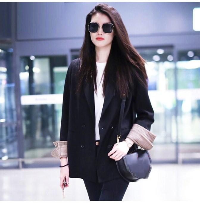 2020春季新款小西装外套女韩版ins宽松休闲港味复古黑色chic西服-莎积-