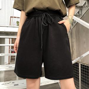 运动短裤男女阔腿五分裤宽松原宿bf风学生裤子