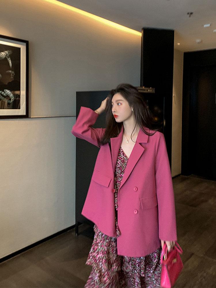 小西装外套2020早春秋新款韩版英伦风复古chic网红气质西服女上-郡宇服饰-
