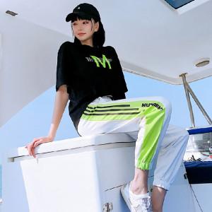 休闲运动服套装女潮牌时尚两件套宽松学生洋气短袖ins潮