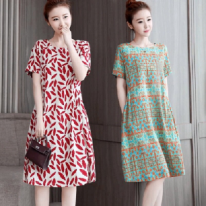 Large size loose and thin dres...
