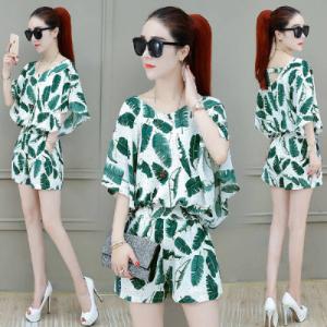 Floral shorts suit: fashionabl...