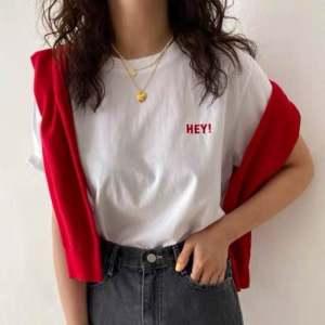 原版质量女装字母点缀潮流T恤女短袖纯棉夏装上衣