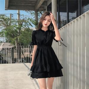 雪纺连衣裙流行夏天裙子小个子裙子仙女超仙森系学生