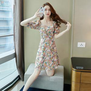 YF34201# 夏装新款韩版a字裙气质显瘦小香风连衣裙 服装批发女装直播货源