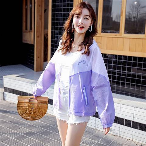 2020夏季新款防晒衣女超薄短款学生网红防紫外线衣服潮流速干风衣-纯享空间-