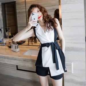 YF36724# 夏装短裤套装女神范洋气时尚职业名媛气质御姐两件套装女夏季 服装批发直播货源
