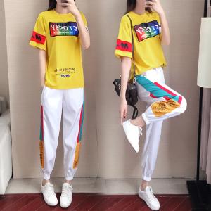 短袖套装女年bf潮运动休闲两件套气质韩版