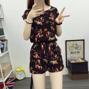 小香风短裤套装女时尚韩版洋气显瘦休闲两件套装