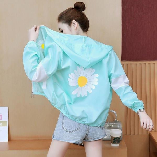 防晒衣女2020新款夏装新款短款轻薄透气防晒服韩版防紫外线外套-艾莱莉-