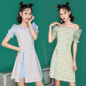 FS98256# 中国风少女年轻款法式超仙旗袍改良连衣裙 服装批发女装直播货源