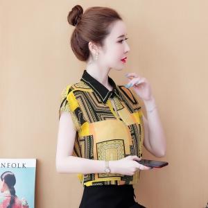 YF59719# 真丝衬衫女夏季新款设计感小众轻熟时尚洋气气质桑蚕丝上衣
