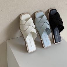 广州批发2020夏季新品 韩国拖鞋 漏趾橡胶软底凉鞋  必备款