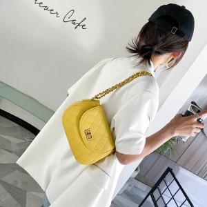 FS81352# 菱格绣线韩版简单百搭实用单肩斜跨女包 服装批发女装直播货源