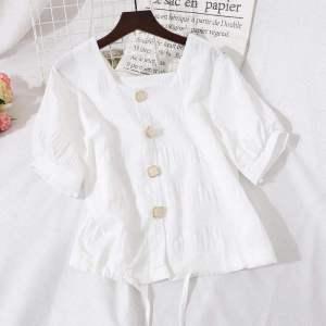 CX4370# 最便宜服装批发 夏装短袖女式甜美小衫新款洋气很仙的短上衣超仙遮肚子雪纺衫衬衣