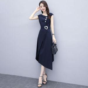 FS89187# 连衣裙女夏季新款轻熟风收腰显瘦气质洋气法式流行夏天长裙子