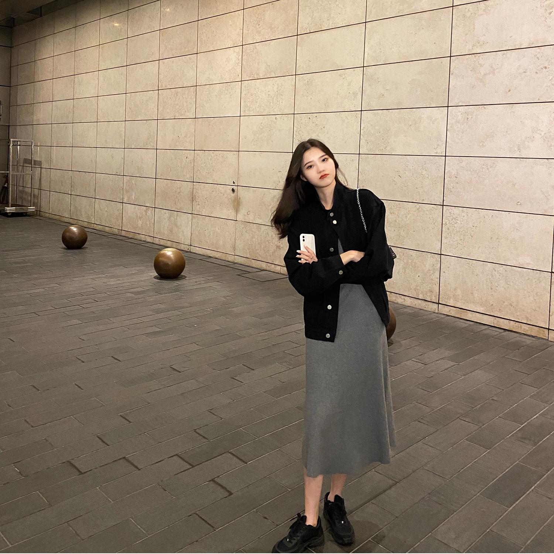 网红同款韩版宽松百搭显瘦早秋装2020新款流行牛仔简约外套女-郡宇服饰-