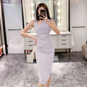 YF35898# 夏季新款韩版气质显瘦包臀连衣裙 服装批发女装直播货源
