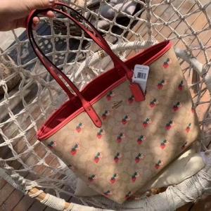 FS88109# 赞赞微商爆款 草莓购物袋老花子母包百搭妈咪包大容量双面托特包 服装批发女装货源