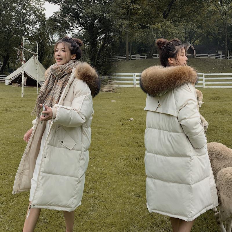 实拍2020新款羽绒棉服女中长款港风韩版棉衣宽松棉袄学院面包服-艾尚梦颖羽绒服-