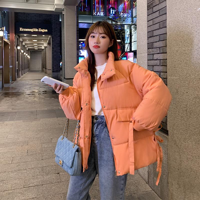 实拍棉服女短款2020宽松韩版小个子面包服收腰棉衣棉袄外套 网红-千姿秀羽绒服-