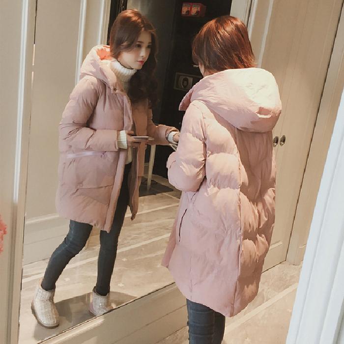 冬季外套棉服女韩版宽松bf学生棉衣中长款新款棉袄ins面包服-千姿秀羽绒服-