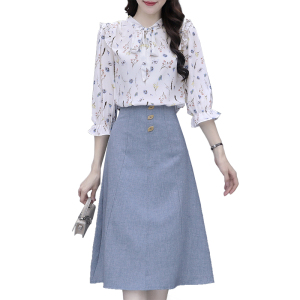 FS88142# 小个子穿搭温柔风两件套长裙显高瘦气质连衣裙小众设计感裙子轻熟 服装批发女装货源