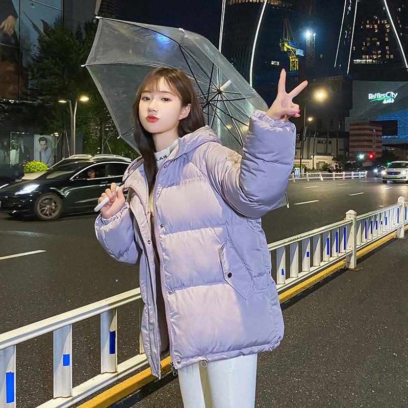 实拍2020新款韩版羽绒服短款时尚宽松小个子加厚棉衣女面包服外套-千姿秀羽绒服-