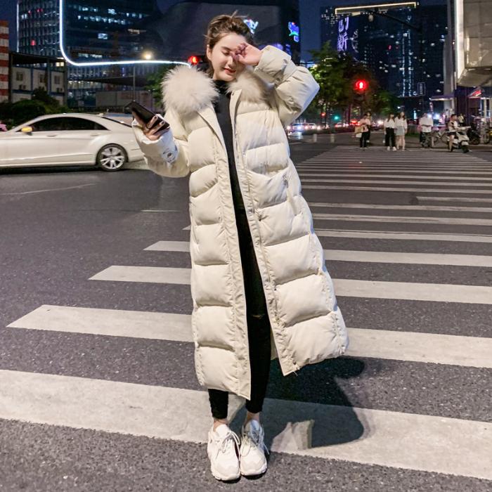 实拍羽绒服女东大门2020新款韩版中长款宽松大码棉衣学生过膝棉服-千姿秀羽绒服-