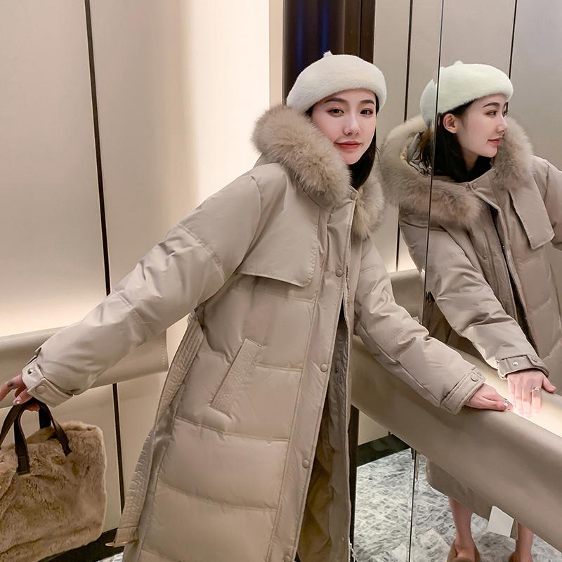 实拍 夏诗文同款2020冬季新款羽绒棉服中长款加厚外套面包棉服女-千姿秀羽绒服-
